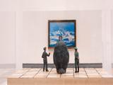 Un raro visitante en la Twin Gallery