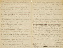 Sale a subasta una carta de Van Gogh y Gauguin